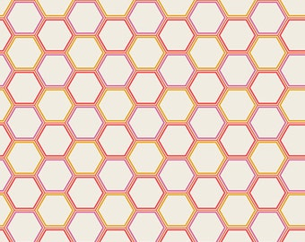 Honeycomb Marmalade - Sweet as Honey - Art Gallery Fabrics - Modern Quilting Fabric - Bonnie Christine - SAH-1608 - Bees Hive