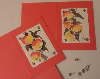 Handmade Greeting Cards, Apples