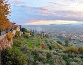 Cortona Italy Sunset Photo