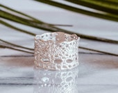 Sale -Lilibet Lace ring in sterling silver-featured at Anthropologie