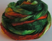 Silk Mulberry Sliver Fiber Top Roving Rove Cultivated Bombyx DRAGON Supreme Luxurious Quality Hand Painted Mulberry Handspinning 2 ounces