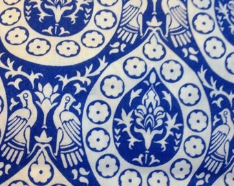 Delft Fabric Cotton Calico Fabric Blue on White Fabric 2 Yards *