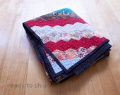 Vintage Hexagon Quilt Has a New Life - one of a kind OOAK Vintage quilt