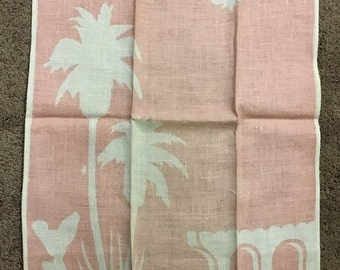 1950s  Hand Towel with Mexican Theme Silhoutte