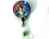 Stranger Things Cover Image Retractable ID Name Holder Badge Reel Clip On Nurse