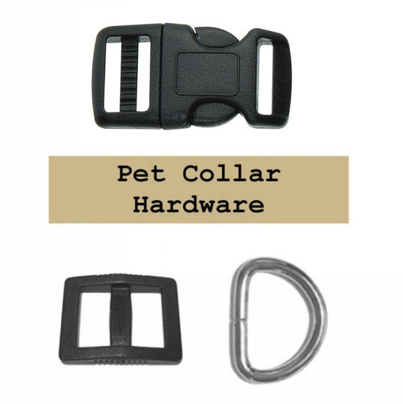 """10 SETS - 1"""" - Dog Collar Kits, 1 inch, Wide mouth, 30 Pieces - BLACK or WHITE"""