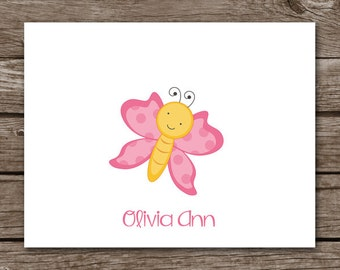 PRINTABLE Butterfly Note Cards, Butterfly Cards, Butterfly Stationery, Stationary, Personalized Note Cards,