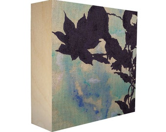 Limited Edition Botanical Print on Birch Wood Panel, Sustainable and Archival, Nature Plant Silhouette - Enchantment No. 1 - Free Shipping