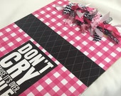BRIGHT PINK and BLACK clipboard