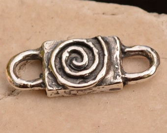 Chunky Spiral Connector Link in Sterling Silver, 358d