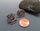 READY TO SHIP Kenpo Crest or Universal Pattern Tie Tack or Lapel Pin in Sterling Silver