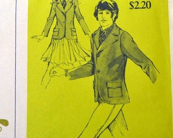 ON SALE Sewing Pattern Stretch & Sew 970 Children's Jacket Size 8-10-12-14 UNCUT Complete