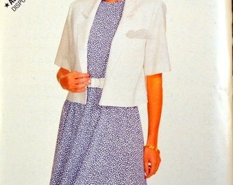 Vintage Sewing Pattern Butterick See & Sew 6161 Misses' Jacket and Dress in size 6-8-10-12-14 Bust 29-36 inches UNCUT  Complete