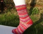 Hand-cranked socks - Spring walk