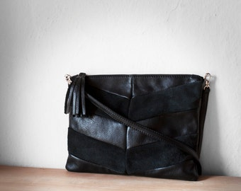 SALE Black Clutch bag/Leather Clutch/Leather Clutch purse/Evening Clutch/Clutch Bag/Black leather Purse/Envelope Clutch/Black purse