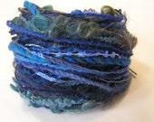 Yarn Variety Hank in a selection of blue yarns.