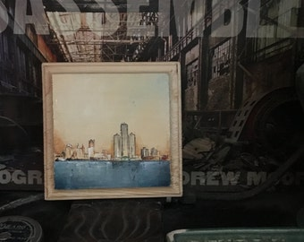 SALE 365 Day Challenge Painting #34 - The Detroit Skyline