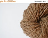 Midwinter Sale Handspun Yarn in Natural Brown BFL Wool - Plied Lofty Handspun Wool - Bluefaced Leicester Wool, Natural Brown - Warm Pure Woo