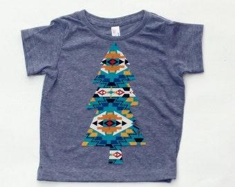 Aztec Christmas Tree... Extra Tall ... Fabric Iron On Applique