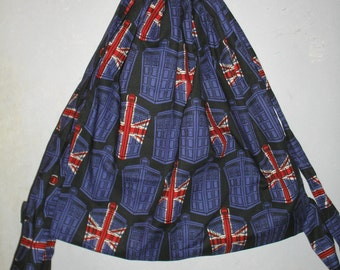 Doctor Who Union Jack Tardis Cinch Backpack