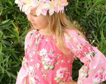 Barefoot Roses Peasant Dress Ready Made to Order