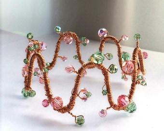 Crystal Wave Bangle Bracelet