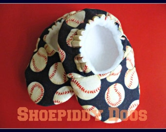 Baseball - Soft Baby Shoes MADE TO ORDER