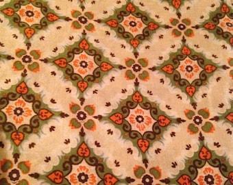 Vintage 1950s Printed Silk Fabric - 1 7/8 Yards - Fabric Yardage / Silk Fabric / 1950s Fabric / 50s / Printed Silk / Vintage Silk