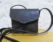 Rustic Deep Olive Leather Shoulder Bag