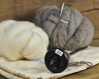 Beginner's Drop Spindle Kit - Black