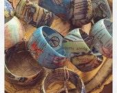 Custom Order for Kim Hackett- 3 Map of Manasquan, NJ Handmade Map Bangle Bracelets