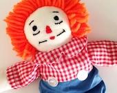 Vintage Handmade Raggedy Andy Doll
