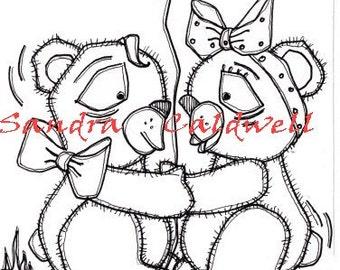 225 Bear Hugs Digi Stamp