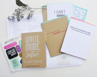 Write Here Right Now Writing Kit - Everyday Kit - Letterpress Writing Kit - WRK-414