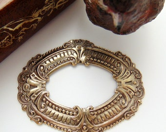 ANTIQUE BRASS Art Nouveau Frame Stamping- Jewelry Ornamental Findings (C-104) x