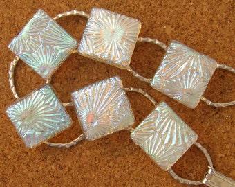 Dichroic Crystal Bracelet - Fused Glass Bracelet - Dichroic Jewelry - Fused Glass Jewelry - Glass Bracelet - Dichroic Link Bracelet