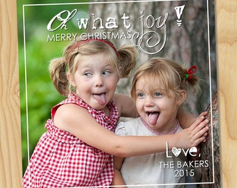 Oh what joy! - Custom Printable Photo Christmas Card