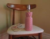 Vintage Pink Lamp Bedroom Pink lamp Midcentury desk lamp Vintage glamour lamp Pink Pineapple lamp Nightstand 50s vintage Pink Lamp