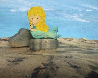 Wood Mermaid Toy - Waldorf-inspired Dolls & Action Figures