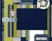 Brothers - Premade Scrapbook Page