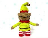 Elf Cat Amigurumi Pattern - Christmas Crochet Pattern