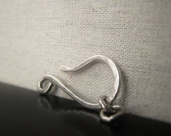 PARTIAL RESERVE Sterling Silver Hook Clasp Silver Hook and Eye Closure Item No. 2626
