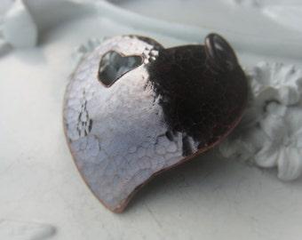Copper Heart Pendant Hammered Copper Pendant Oxidized Copper Heart Item No. 1173