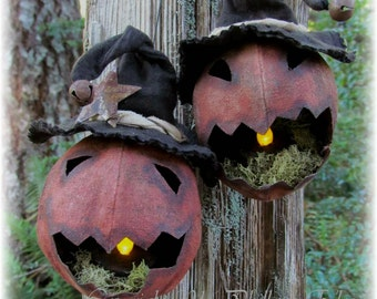 Head Banger's Primitive Folk Art Pumpkin Jack-o-lantern Pattern