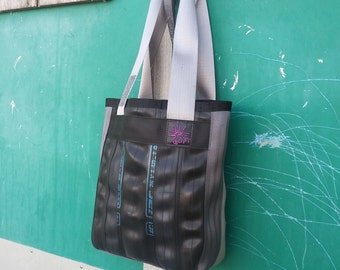 Small Tote - Carry All - Recycled Seat Belt Bag - Bike Tube Bag