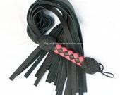 SALE Pink And Black Leather Flogger Whip BDSM Kink Fetish (FLG 104)