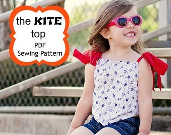 SALE Kite Tank Top Sewing Pattern by Whimsy Couture 6m - 16 girls PDF Instant