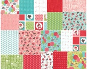 """Moda LIL RED Precut 5"""" Charm Pack Fabric Quilting Cotton Squares Stacey Iset HSU 20500PP"""