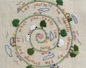 Rumi Wisdom, Embroidery Pattern pdf, Instant Download, Beginning Embroidery, DIY Embroidery Pattern, Sheep