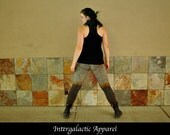 Organic Yoga Pants, Size MEDIUM Leggings with Hand Dyed Organic Fabric by Intergalactic Apparel